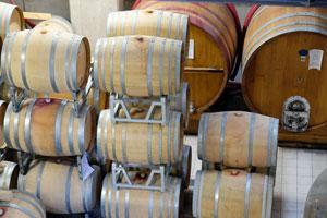 Stalen gistingstanks en houten barriques. Het behoort tot de basisuitrusting van de moderne, familiale wijnbouwer.