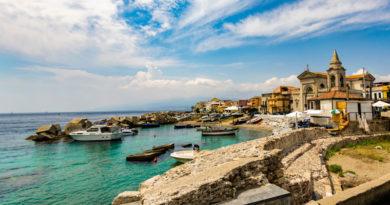 De kust van Sicilië, een eiland met veel wijnbouw