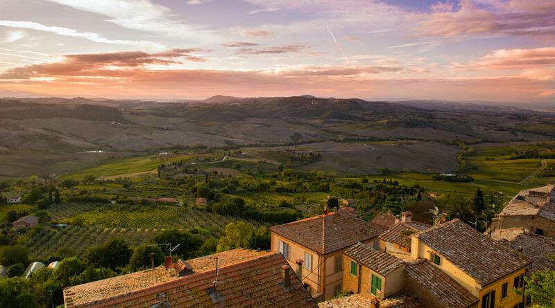 Italië, landschap met wijngaarden